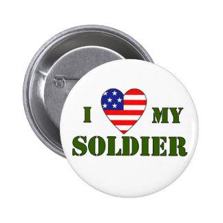 USA-LOVE MI SOLDADO PIN REDONDO 5 CM