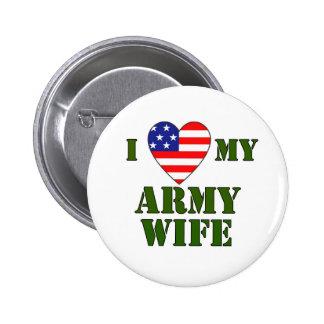 USA-LOVE My Army wife Pinback Button