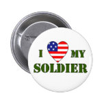 USA-LOVE MY SOLDIER PINBACK BUTTON