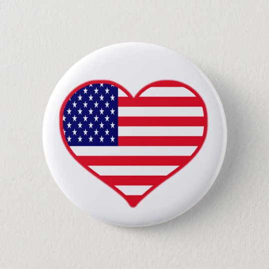USA Love Pinback Button