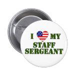 USA- LOVE -Sergeant 2 Inch Round Button