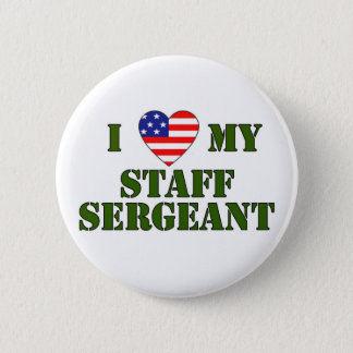 USA- LOVE -Sergeant Pinback Button