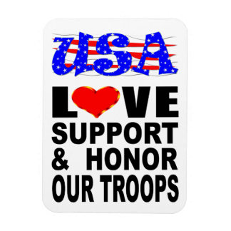 USA Love Support And Honor Our Troops Magnet