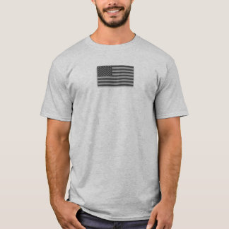 USA Low Visibility American Flag Camo Gray T-Shirt