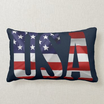USA Themed USA LUMBAR PILLOW