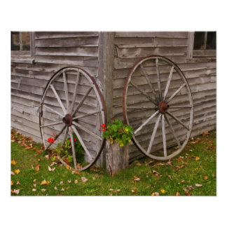 USA, Main. Wagon Wheels Poster