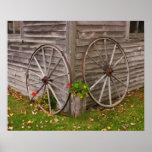 USA, Main. Wagon Wheels Print