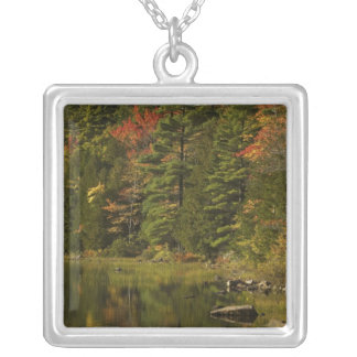 USA; Maine; Acadia NP. Fall reflections at 2 Custom Necklace