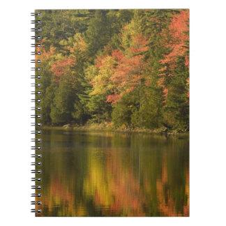 USA; Maine; Acadia NP. Fall reflections at Spiral Notebook