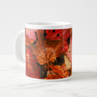 USA, Maine. Autumn maple leaves Large Coffee Mug