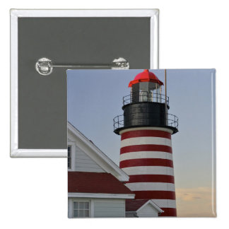 USA, Maine, Lubec. West Quoddy Head Lighthouse, Button