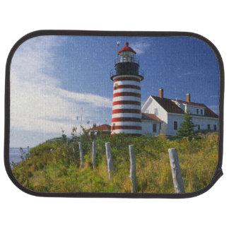 USA, Maine, Lubec. West Quoddy Head Lighthouse Car Mat