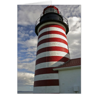 USA, Maine, Lubec. West Quoddy Head LIghthouse Cards
