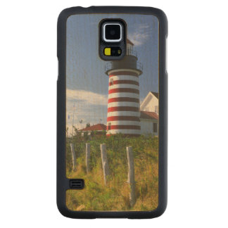 USA, Maine, Lubec. West Quoddy Head Lighthouse Carved® Maple Galaxy S5 Slim Case