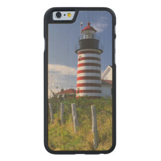 USA, Maine, Lubec. West Quoddy Head Lighthouse Carved® Maple iPhone 6 Slim Case