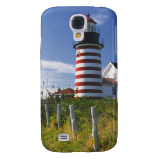 USA Maine Lubec West Quoddy Head Lighthouse Galaxy S4 Cases