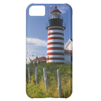 USA, Maine, Lubec. West Quoddy Head Lighthouse Case For iPhone 5C