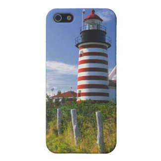 USA, Maine, Lubec. West Quoddy Head Lighthouse Case For iPhone SE/5/5s