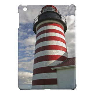 USA, Maine, Lubec. West Quoddy Head LIghthouse Cover For The iPad Mini