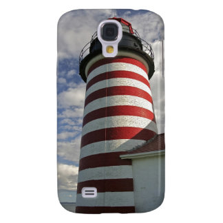 USA, Maine, Lubec. West Quoddy Head LIghthouse Galaxy S4 Cover