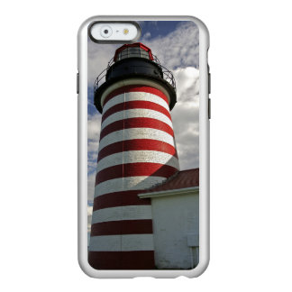 USA, Maine, Lubec. West Quoddy Head LIghthouse Incipio Feather® Shine iPhone 6 Case