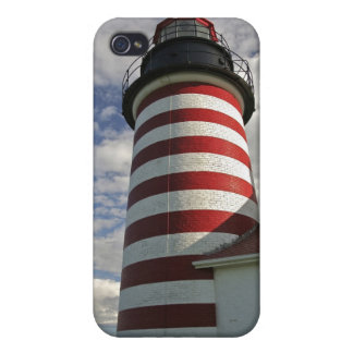 USA, Maine, Lubec. West Quoddy Head LIghthouse iPhone 4/4S Cases