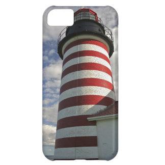 USA, Maine, Lubec. West Quoddy Head LIghthouse iPhone 5C Case