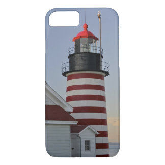 USA, Maine, Lubec. West Quoddy Head Lighthouse, iPhone 7 Case