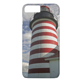 USA, Maine, Lubec. West Quoddy Head LIghthouse iPhone 7 Plus Case