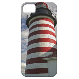 USA, Maine, Lubec. West Quoddy Head LIghthouse iPhone SE/5/5s Case