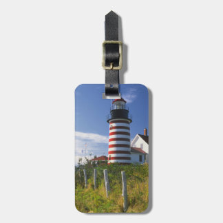 USA, Maine, Lubec. West Quoddy Head Lighthouse Luggage Tag