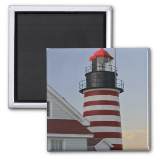 USA, Maine, Lubec. West Quoddy Head Lighthouse, Magnet