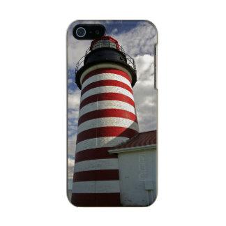 USA, Maine, Lubec. West Quoddy Head LIghthouse Metallic iPhone SE/5/5s Case