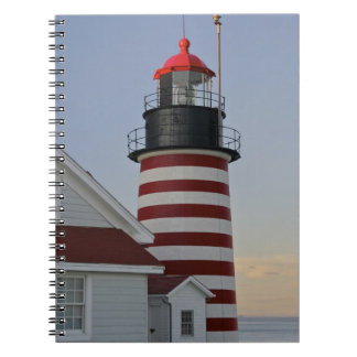 USA, Maine, Lubec. West Quoddy Head Lighthouse, Notebook