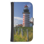 USA, Maine, Lubec. West Quoddy Head Lighthouse Galaxy S4 Wallet