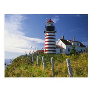 USA, Maine, Lubec. West Quoddy Head Lighthouse Postcard