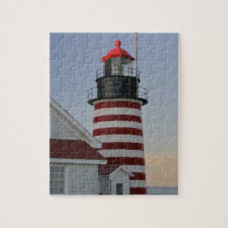 USA Maine Lubec West Quoddy Head Lighthouse Puzzles