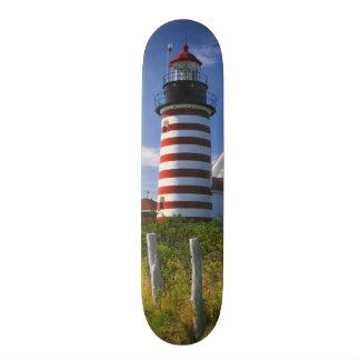 USA, Maine, Lubec. West Quoddy Head Lighthouse Skateboard Deck