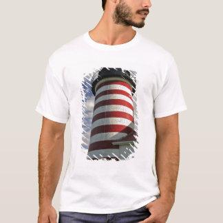 USA, Maine, Lubec. West Quoddy Head LIghthouse T-Shirt