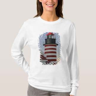 USA, Maine, Lubec. West Quoddy Head Lighthouse, T-Shirt