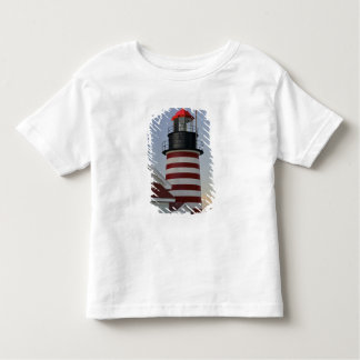 USA, Maine, Lubec. West Quoddy Head Lighthouse, Toddler T-shirt