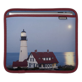 USA, Maine, Portland, Cape Elizabeth, Lighthouse iPad Sleeve