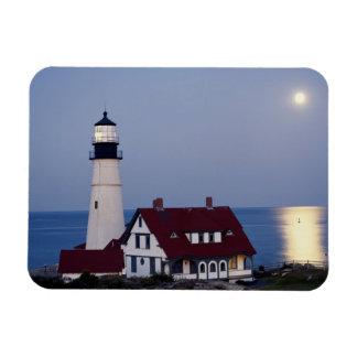 USA, Maine, Portland, Cape Elizabeth, Lighthouse Magnet