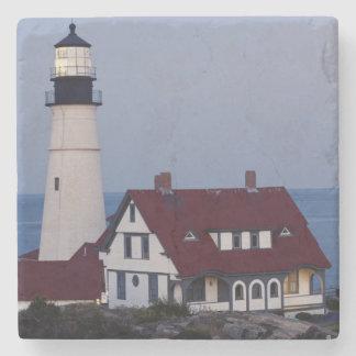 USA, Maine, Portland, Cape Elizabeth, Lighthouse Stone Coaster