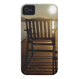 USA, Maine, Rockwood. A chair with a view of iPhone 4 Cases