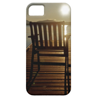 USA, Maine, Rockwood. A chair with a view of iPhone SE/5/5s Case