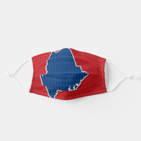 USA Maine State Stars and Stripes Map Cloth Face Mask