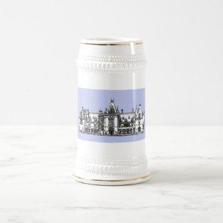 USA Mansion in baby blue Beer Stein