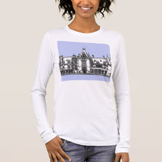 USA Mansion in baby blue Long Sleeve T-Shirt