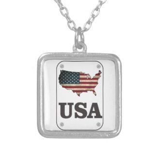 USA Map American Flag Jewelry